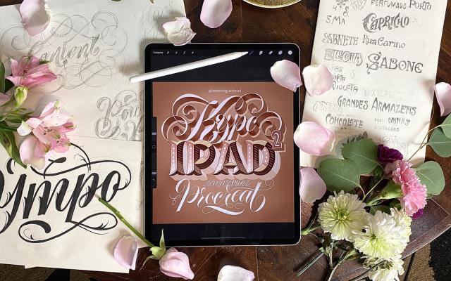 Леттеринг на iPad2